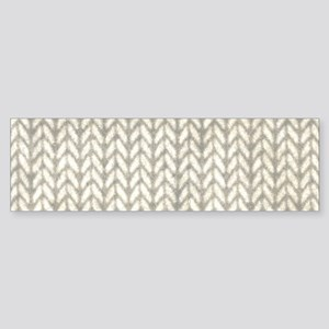 White Knit Graphic Pattern Bumper Sticker
