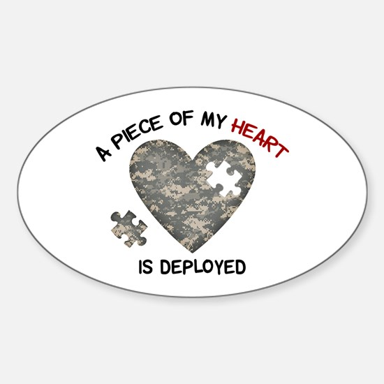 Puzzle Piece of My Heart Sticker (Oval)