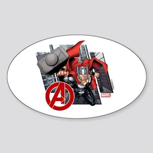 Thor Fly Sticker (Oval)