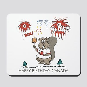 Happy Birthday Canada Mousepad