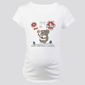 Happy Birthday Canada Maternity T-Shirt