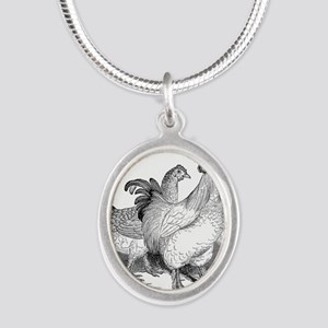 Vintage 1800s Rooster Chicken Chickens Necklaces