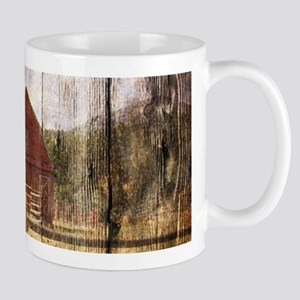 farm red barn Mugs