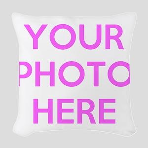 Customize photos Woven Throw Pillow