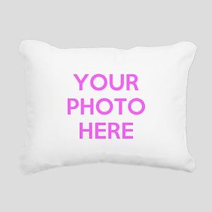 Customize photos Rectangular Canvas Pillow