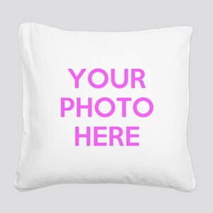 Customize photos Square Canvas Pillow