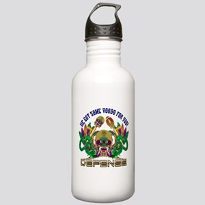 Football Defense Stainless Water Bottle 1.0L