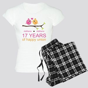 17th Anniversary Two Birds Women's Light Pajamas