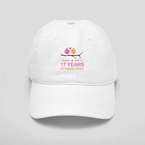 17th Anniversary Two Birds Love Cap