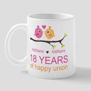 18th Anniversary Persnalized Mug