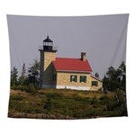 Copper Harbor Lighthouse Wall Tapestry