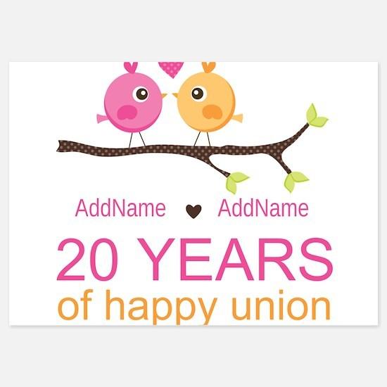 Personalized 20th Anniversary Invitations