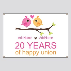 Personalized 20th Anniversary Banner