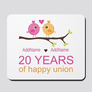 Personalized 20th Anniversary Mousepad