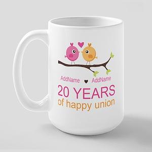 Personalized 20th Anniversary Large Mug