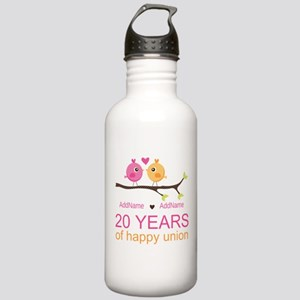 Personalized 20th Anni Stainless Water Bottle 1.0L