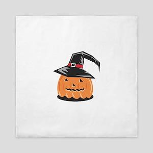 Halloween Pumpkin Witch Hat Queen Duvet