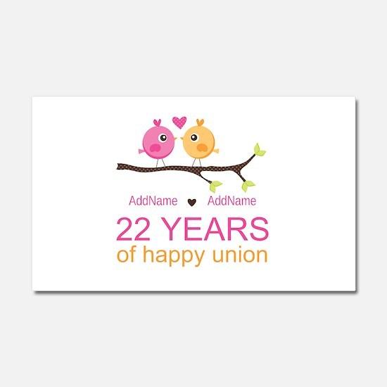 22nd Wedding Anniversary Person Car Magnet 20 x 12