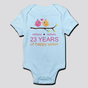 23 Years Anniversary Personalized Infant Bodysuit