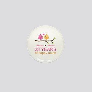 23 Years Anniversary Personalized Mini Button