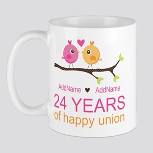 24th Wedding Anniversary Personalized Mug