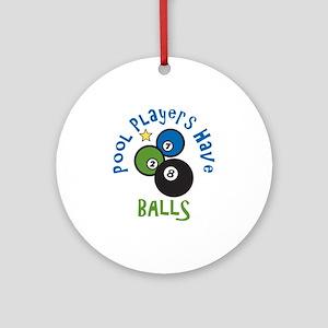 Pool Balls Ornament (Round)