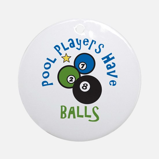 Pool Balls Ornament (Round)