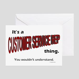 Customer Service Rep Greeting Cards (Pk of 10)