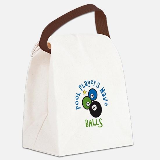 Pool Balls Canvas Lunch Bag