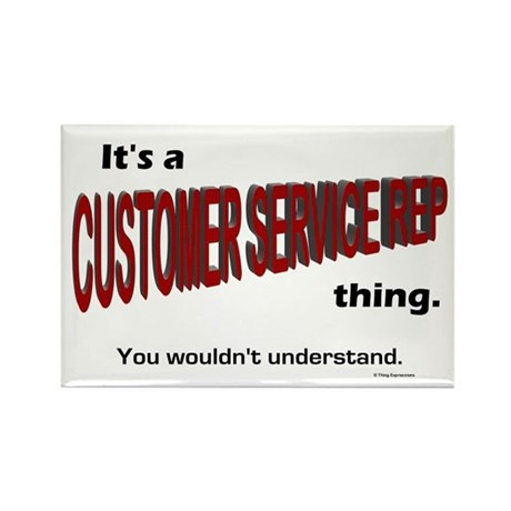 Customer Service Rep Rectangle Magnet (100 pack)
