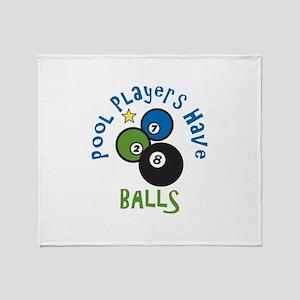 Pool Balls Throw Blanket