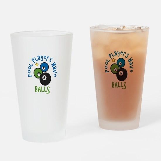 Pool Balls Drinking Glass