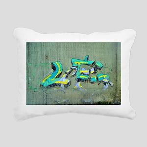 Old Graffiti Rectangular Canvas Pillow