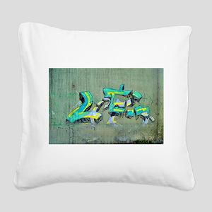 Old Graffiti Square Canvas Pillow