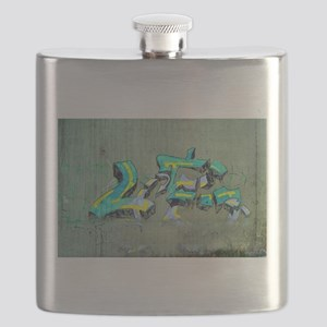 Old Graffiti Flask
