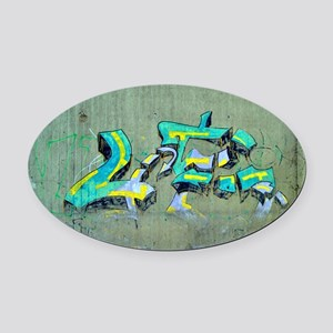 Old Graffiti Oval Car Magnet