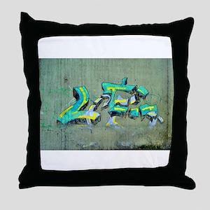 Old Graffiti Throw Pillow