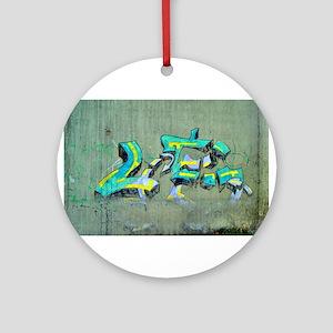 Old Graffiti Ornament (Round)