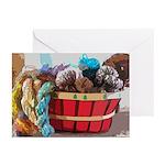 Art Yarn Basket Greeting Cards