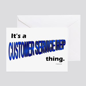 Customer Service Rep Thing Greeting Cards (Package