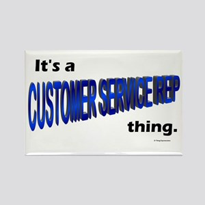 Customer Service Rep Thing Rectangle Magnet