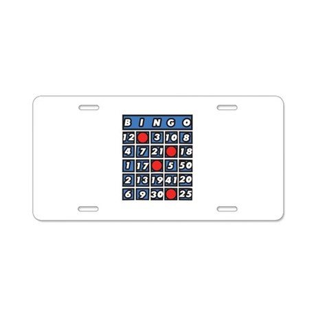 Bingo Card Aluminum License Plate by CONCORD23