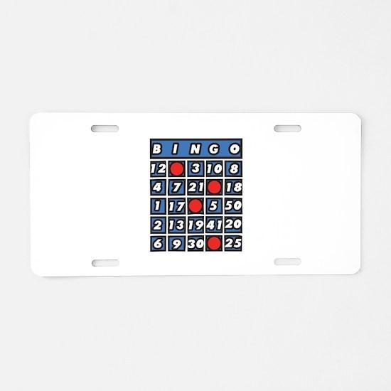 Bingo Card Aluminum License Plate