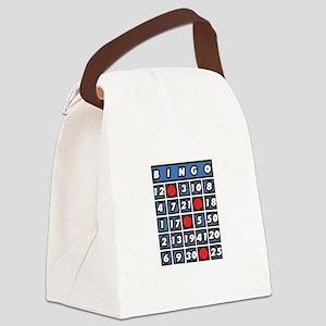 Bingo Card Canvas Lunch Bag
