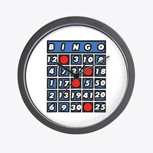 Bingo Card Wall Clock