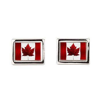 Canada Flag Souvenir Jewelry Rectangular Cufflinks
