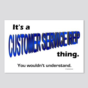 Customer Service Rep Thing Postcards (Package of 8