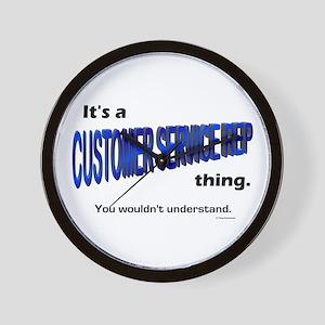 Customer Service Rep Thing Wall Clock