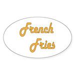 French Fries Sticker (Oval 10 pk)