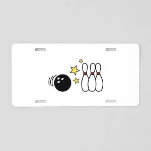 Bowling Stars Aluminum License Plate